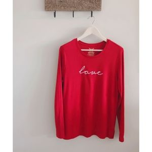 "Red ""Love"" Long Sleeve T-shirt"